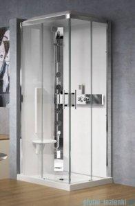 Novellini Glax 3 kabina prysznicowa standard 100x70 lewa srebrny GL3A107SM-1B