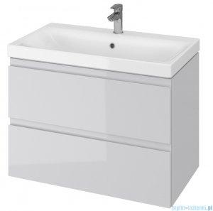 Cersanit Moduo Slim szafka wisząca z umywalką 80x37x62 cm szara S801-224