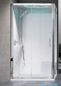 Novellini Eon kabina prostokątna z hydromasażem 120x80 lewa EON2P129SM1-1AK