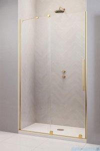 Radaway Furo Gold DWJ drzwi prysznicowe 130cm lewe szkło przejrzyste 10107672-09-01L/10110630-01-01