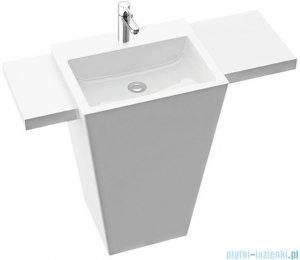 Marmorin Tebe 55 S umywalka stojąca z dwiema krótkimi półkami z otworem biały połysk PS0821105500100003