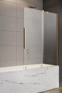 Radaway Furo Gold PND II parawan nawannowy 120cm prawy szkło przejrzyste 10109638-09-01R/10112594-01-01