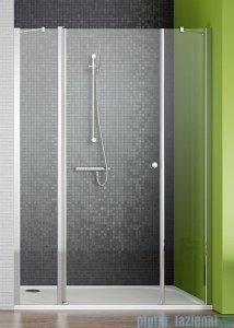 Radaway Eos II DWJS Drzwi prysznicowe 140x195 lewe szkło przejrzyste + brodzik Argos D + syfon 3799456-01L/4AD914-01