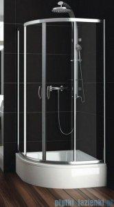 Aquaform Nigra kabina prysznicowa półokrągła 80x80x167cm chrom szkło przejrzyste 100-091121P