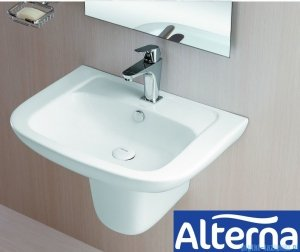 Alterna Claro Półpostument do umywalki 280x185x260mm Biały ALTN-124482
