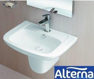Alterna Claro Półpostument do umywalki 280x185x260mm Biały ALTN-124482