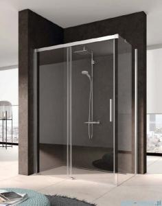 Kermi Nica Ściana boczna prawa, szkło przezroczyste, profile srebrne 110cm NITWR11020VPK