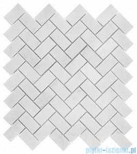 Dunin Black & White Eastern White Herringbone 48 mozaika kamienna 30,5x30,5cm