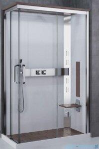Novellini Nexis kabina prysznicowa z hydromasażem 120x80 prawa wenge NEXA129DT5-1KV