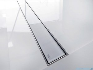 Tece Ruszt prosty ze szkła Tecedrainline 80cm szkło białe 6.008.91