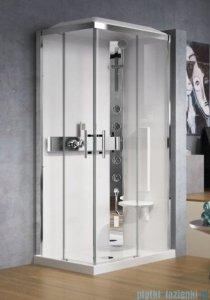 Novellini Glax 3 kabina prysznicowa standard 100x70 prawa srebrny GL3A107DM-1B