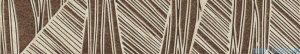 Kwadro Sextans beige listwa 7,2x40