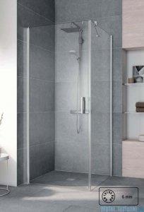 Kermi Pega Ściana boczna, szkło przezroczyste, profile srebrne 70x200cm PETWO07020VPK