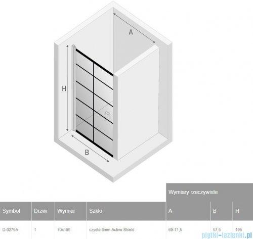 New Trendy New Soleo Black drzwi wnękowe 70x195 cm przejrzyste D-0275A