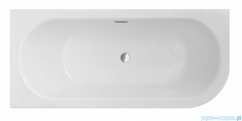 Besco Avita Slim + 160x75cm wanna asymetryczna lewa + syfon #WAV-160-SL+