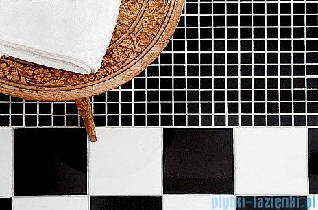 Dunin Black & White mozaika kamienna 30x30 pure B&W chess 15
