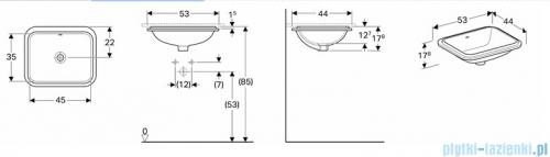 Koło Variform umywalka podblatowa 50x40cm 500.764.01.6