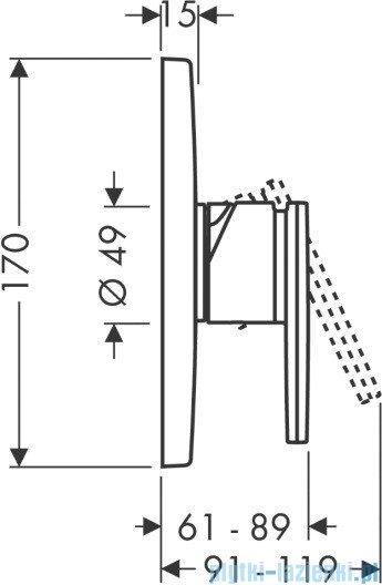 Hansgrohe Axor Citterio Jednouchwytowa bateria prysznicowa podtynkowa 39655000