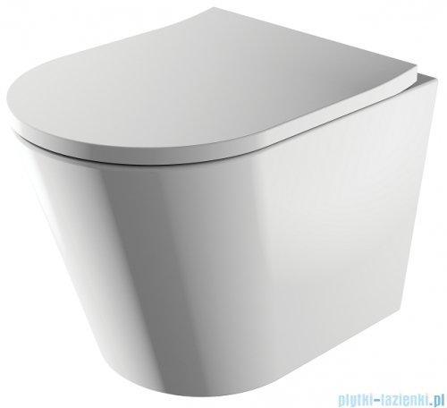 Omnires Tampa podtynkowy zestaw WC z miską + deską wolnoopadającą + przycisk chrom TAMPASETBPCR