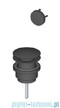 Riho Livit Glaze Top korek umywalkowy klik-klak + nakładka na przelew czarny mat F93023