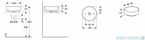 Koło Variform umywalka nablatowa 40cm 500.768.01.6
