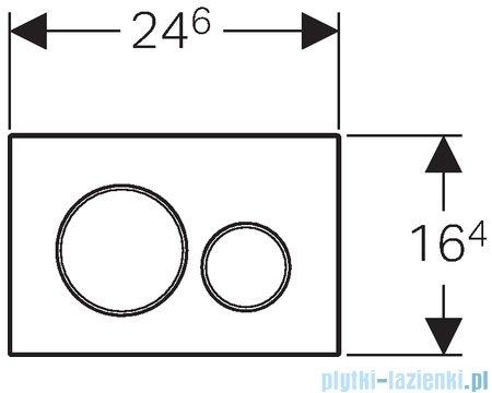 Geberit Sigma20 Przycisk uruchamiający chrom matowy/chrom błyszczący/chrom matowy 115.882.KN.1