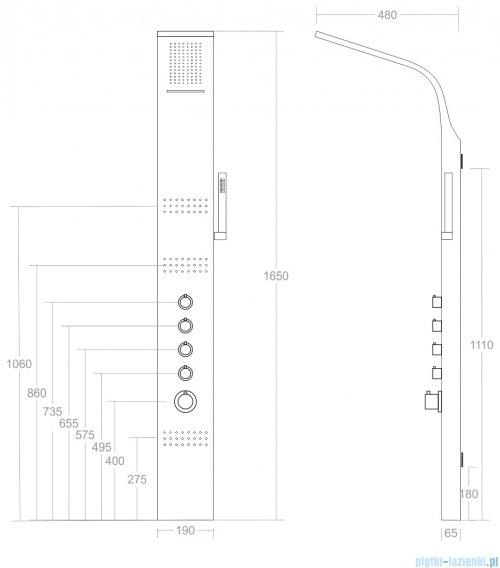 Corsan Led kaskada panel natryskowy z termostatem A-013AT POMALUJ GO SAM