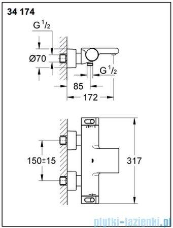 Grohe Grohtherm 2000 NEW bateria wannowa z termostatem DN 15 34174001