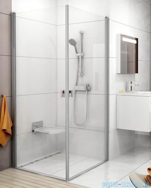 Ravak Chrome CRV1 drzwi prysznicowe 1/2 90cm białe transparent 1QV70101Z1