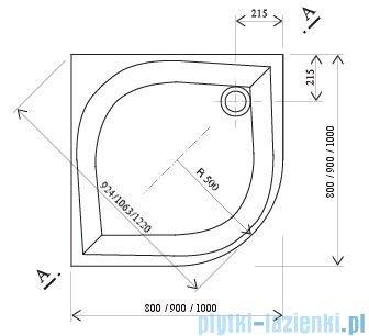 Ravak Brodzik półokrągły Galaxy Elipso-90 Pan 90x90 A227701410