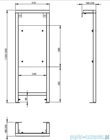 Roca Dostępna Łazienka Stelaż podtynkowy do uchytów A89007300U