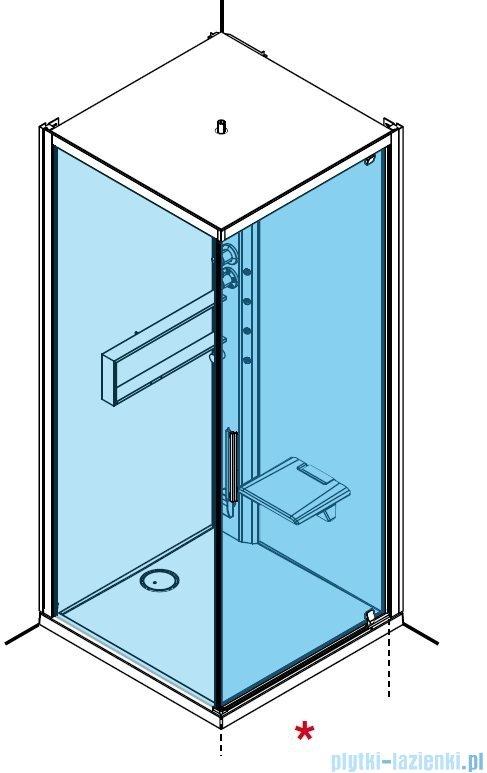 Novellini Glax 2 2.0 kabina z hydromasażem hydro plus 80x80 prawa total biała G22GF80DM1L-1UU