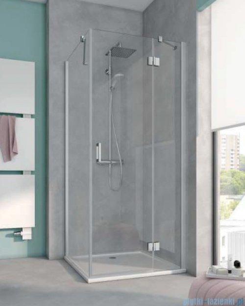 Kermi Osia Drzwi prysznicowe 1 skrzydłowe z polem stałym prawe, szkło przezroczyste 90 cm OSSTR09020VPK