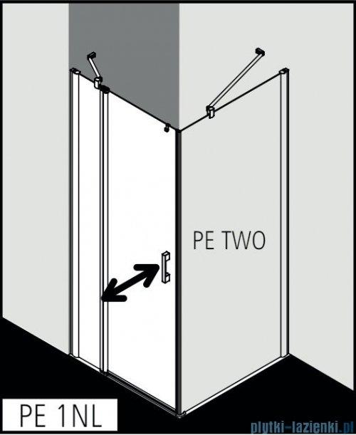 Kermi Pega kabina prysznicowa kwadratowa 1-skrzydłowa 80x80 cm lewa przejrzysta PE1NL08020VPK/PETWO08020VPK