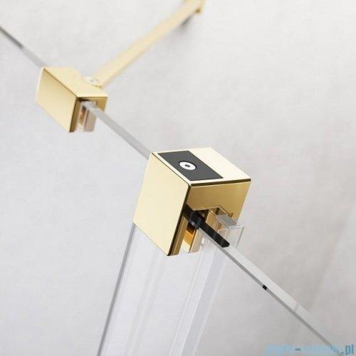 Radaway Furo Gold DWJ drzwi prysznicowe 140cm lewe szkło przejrzyste 10107722-09-01L/10110680-01-01