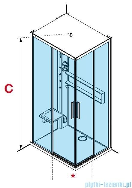 Novellini Glax 2 2.0 kabina z hydromasażem 100x80 lewa total biała G22A198SM1-1UU