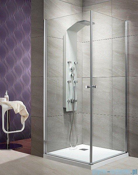 Eos KDD Radaway kabina prysznicowa 80x80 szkło przejrzyste montaż na posadzce