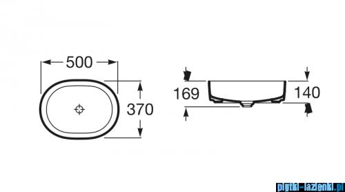 Roca Inspira Round umywalka nablatowa 50x37cm Maxi Clean A32752000M