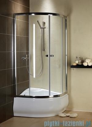 Radaway Premium A Kabina półokrągła 80x80x170 szkło brązowe
