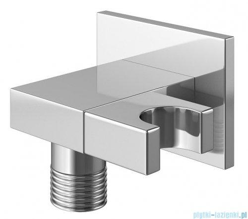 Kohlman Excelent zestaw prysznicowy z baterią termostatyczną chrom przyłącze kątowe