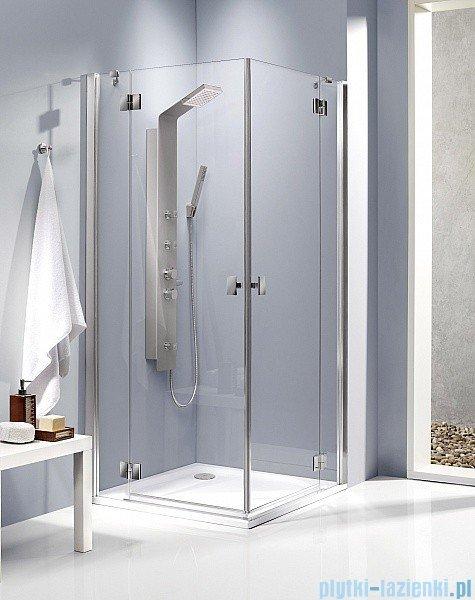 Radaway Kabina prysznicowa Essenza KDD 90x100 szkło grafitowe