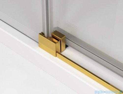 SanSwiss Cadura Gold Line kabina Walk in 120cm lewa ze ścianką przesuwną CAW2G1201207