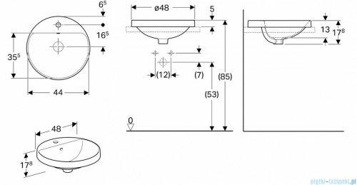 Koło Variform umywalka wpuszczana w blat 48cm 500.704.01.6