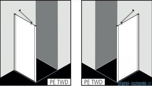Kermi Pega Ściana boczna, szkło przezroczyste, profile srebrne 100x200cm PETWD10020VPK