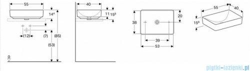 Koło Variform umywalka nablatowa 55cm 500.779.01.6