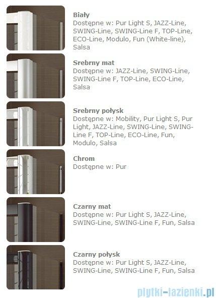 SanSwiss Top-Line TOPS4 Drzwi prysznicowe 4-częściowe 140cm profil połysk TOPS414005007