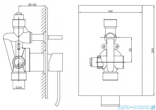 Kohlman Axis zestaw prysznicowy chrom QW210NR30