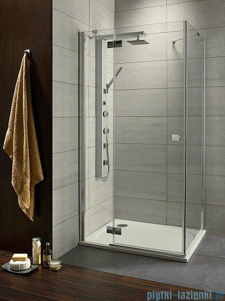 Almatea Kdj Radaway Kabina prysznicowa 80x90 lewa szkło przejrzyste