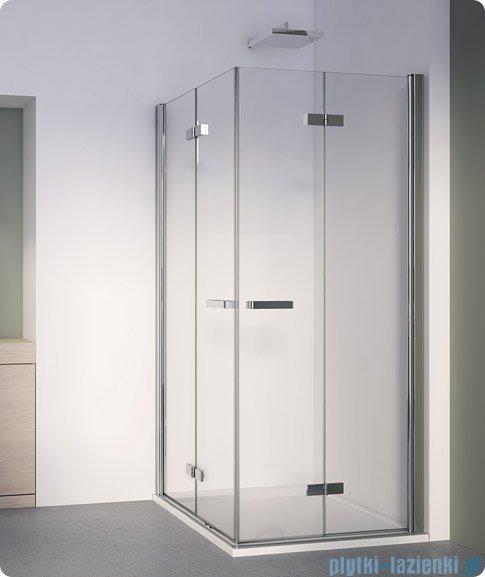 SanSwiss Swing Line F SLF2 Wejście narożne z drzwiami 90cm profil srebrny Prawe SLF2D09000107