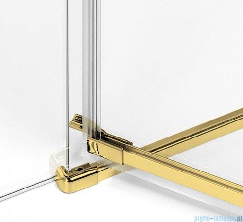 New Trendy Avexa Gold kabina prostokątna 110x80x200 cm przejrzyste prawa EXK-1876